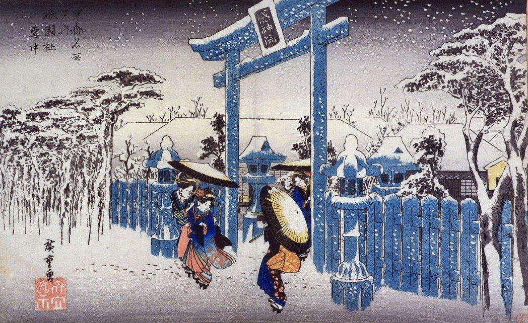 圖為《祇園社雪中》。日本那建構於「物哀」(もののあわれ)——一種來自無常的哀愁—...