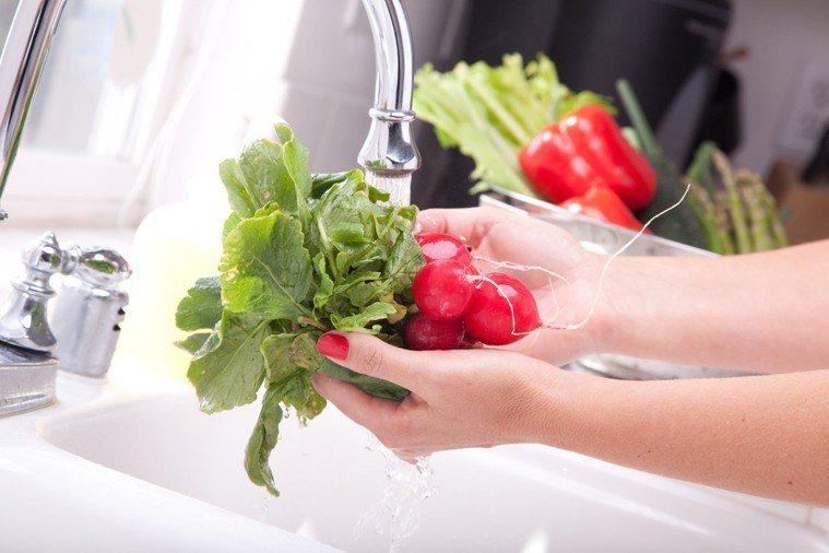 洗菜示意圖。ingimage