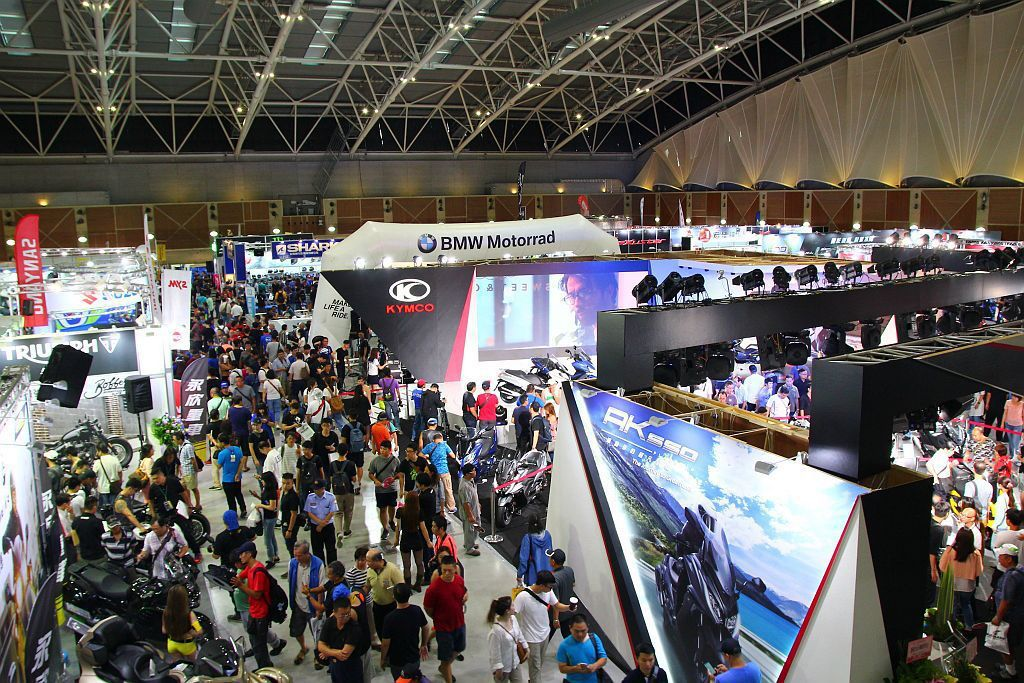 今年來到第三屆的國際重型機車展,在新北市工商展覽中心盛大開幕。 記者張振群/攝影