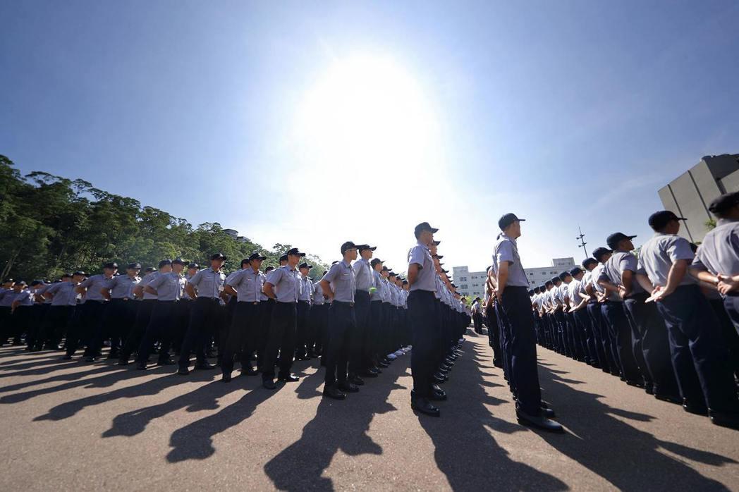 圖為警察專科學校學生。 圖/取自NPA 署長室