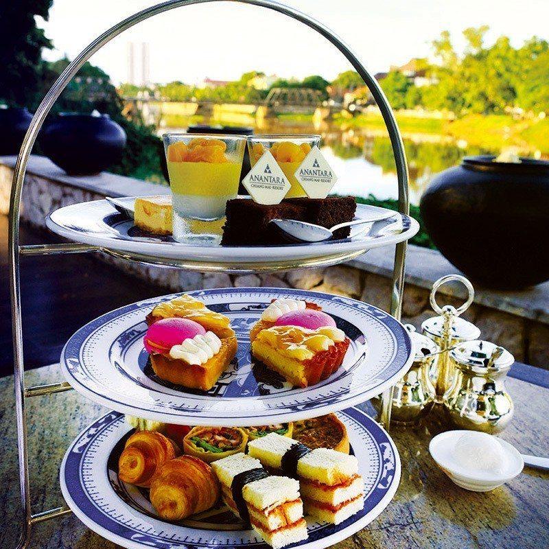 有些清邁人也會專程到此享用經典的下午茶套餐。 攝影/行遍天下