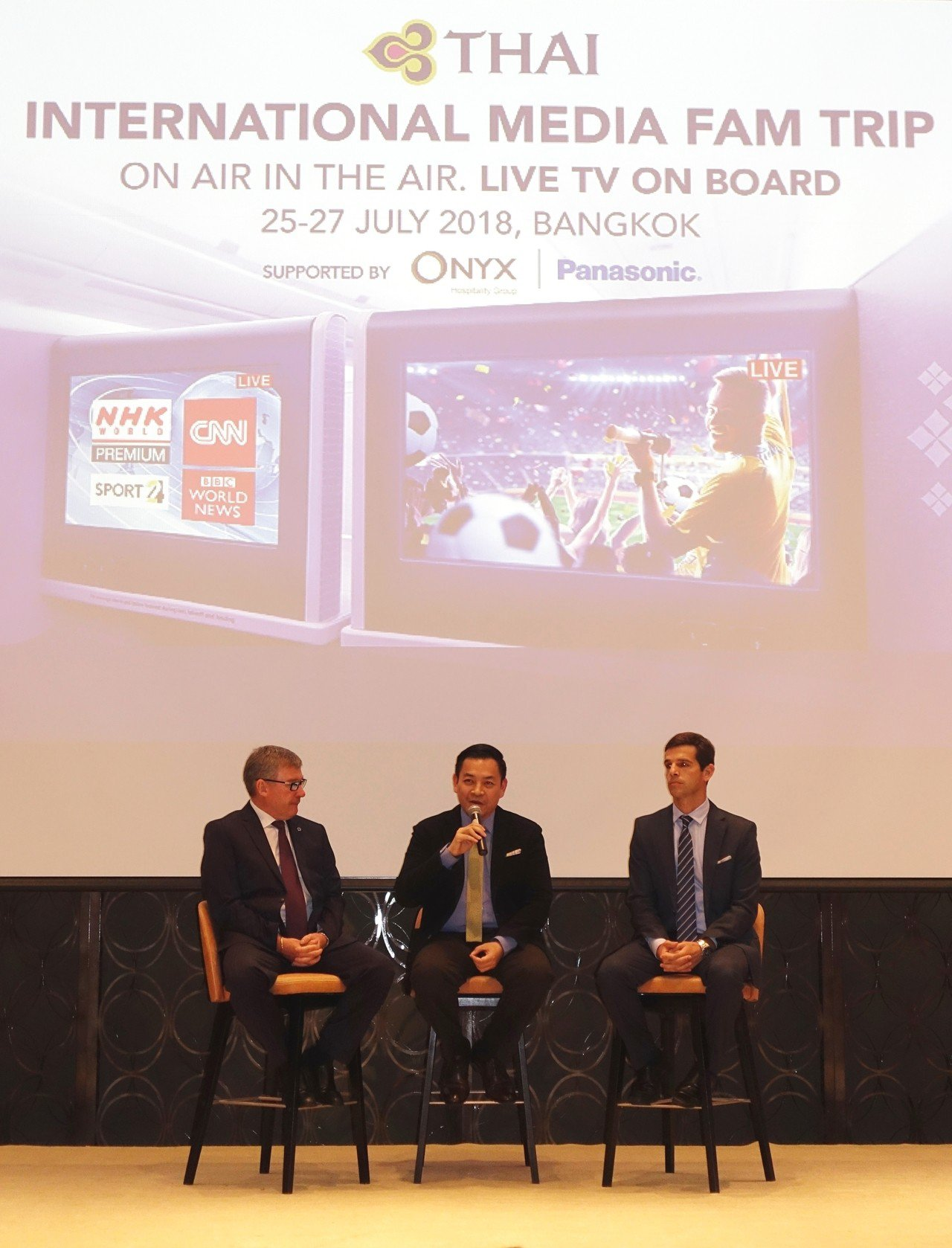7/25泰航邀集了台灣、日本、韓國、美國、等13個國家媒體,宣布直播服務正式上線...