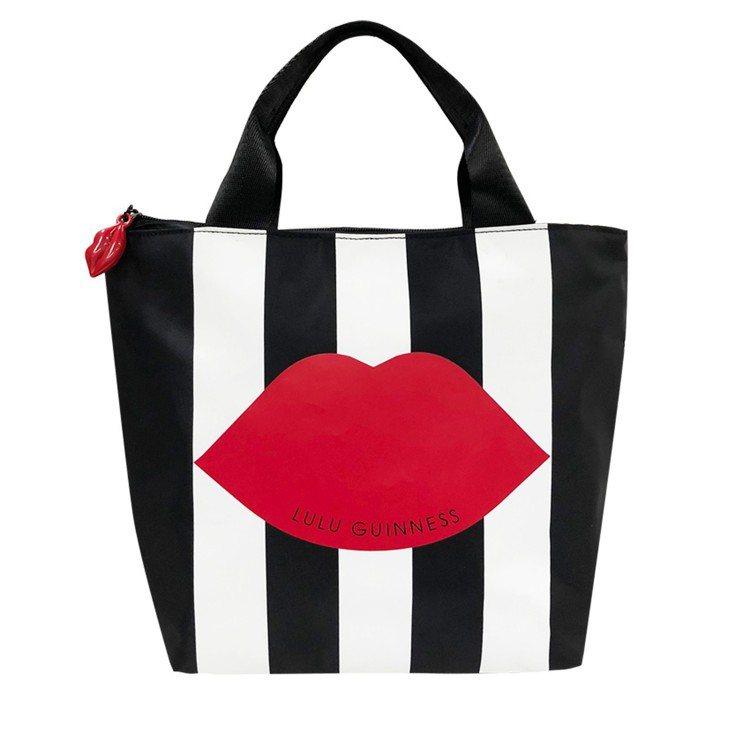 集滿6點+899元換購的LULU紅唇手提袋。圖/LULU GUINNESS提供