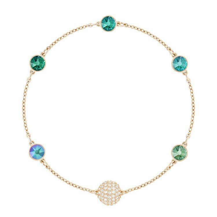 Swarovski Remix Collection 藍綠色系鍊飾,3,490元...