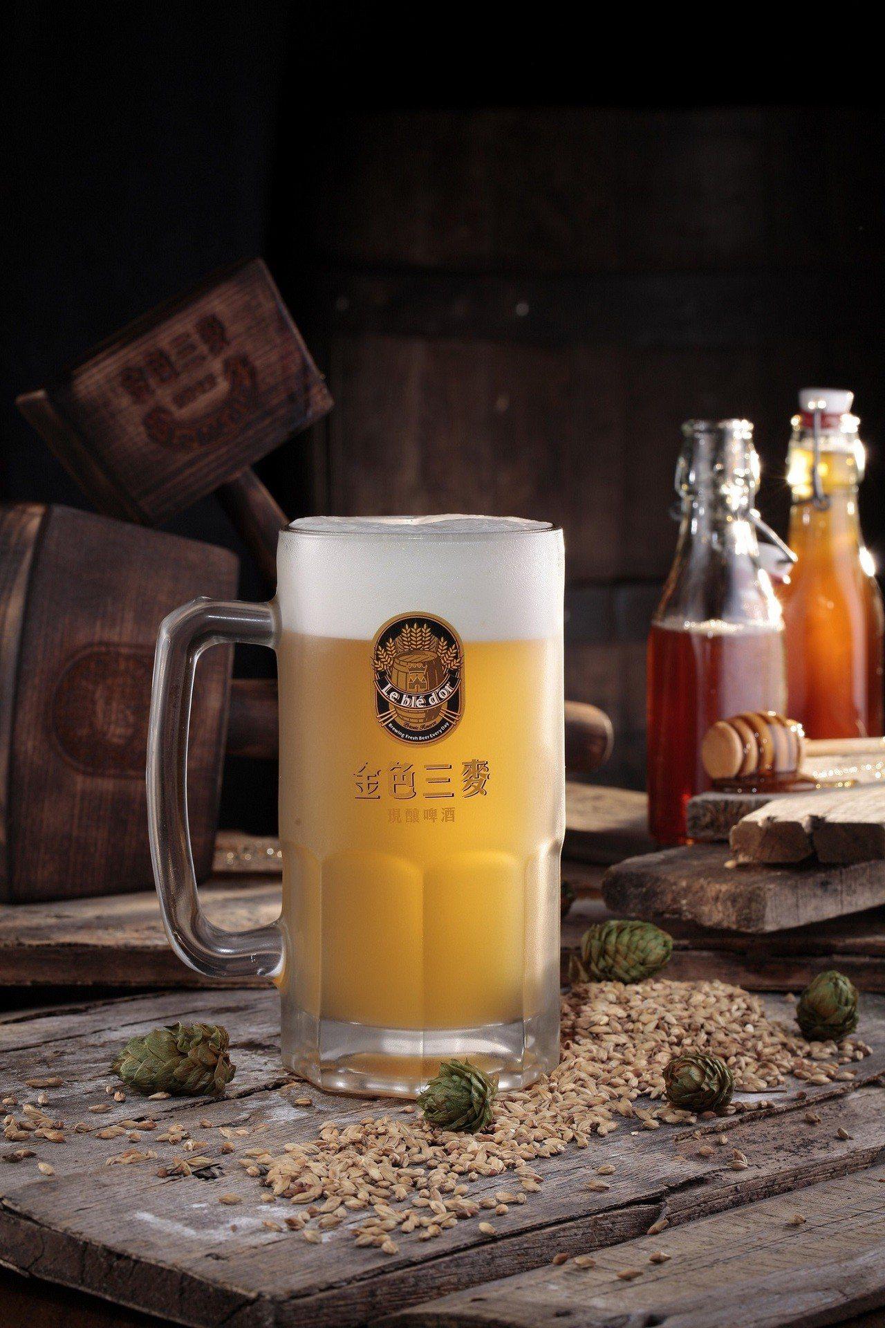金色三麥蜂蜜啤酒。圖/誠品生活提供 ※ 提醒您:禁止酒駕 飲酒過量有礙健康