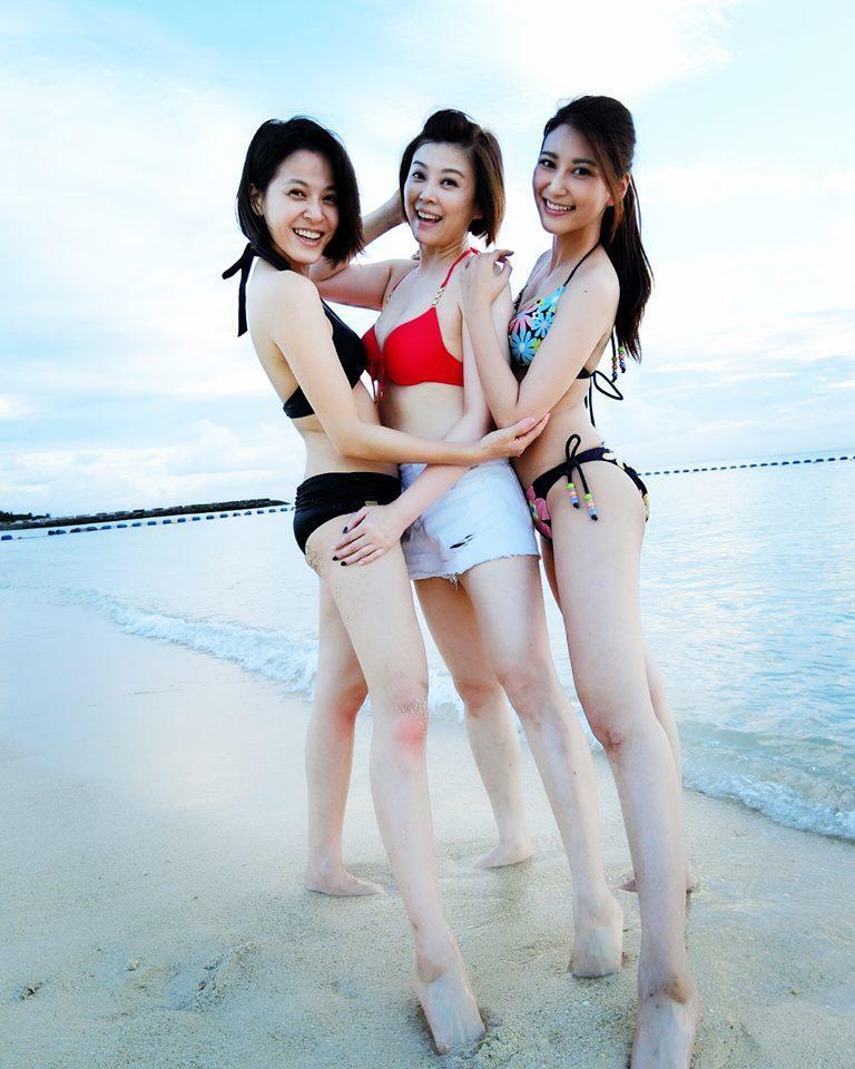 蘇晏霈(左起)、方馨、樓心潼日前到沖繩度假。圖/摘自臉書