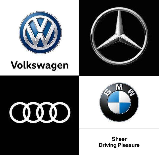摘自Volkswagen、Mercedes-Benz、Audi、BMW