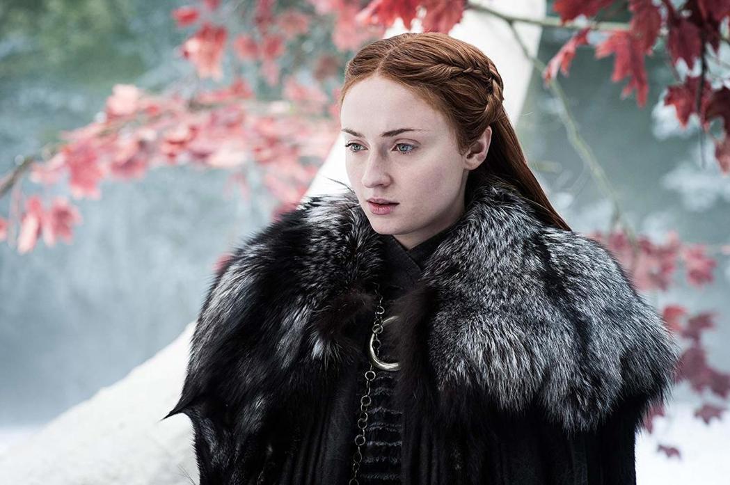 蘇菲透納在「冰與火之歌:權力遊戲」扮演重要角色之一珊莎史塔克。圖/摘自HBO