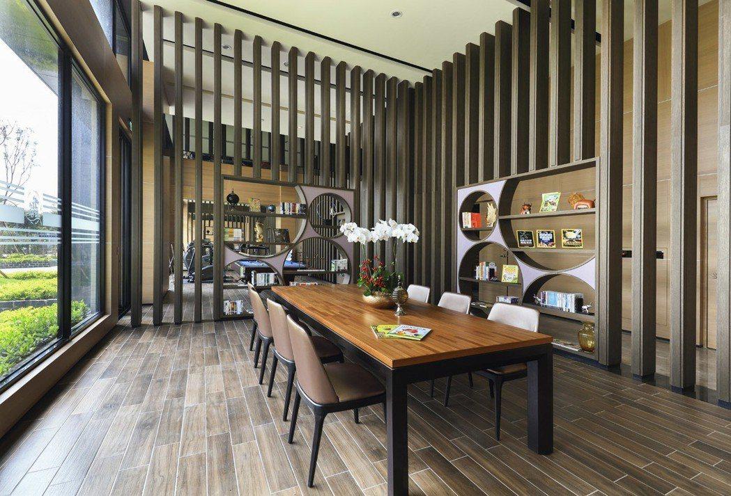「上河城」閱覽室。 圖片提供/龍騰建設
