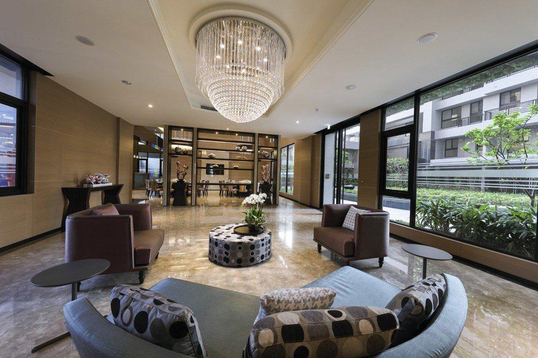 「上河城」交誼廳B。 圖片提供/龍騰建設