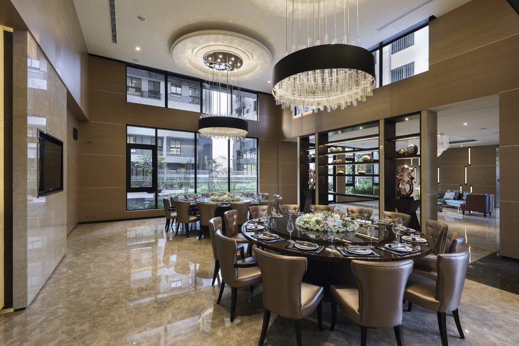 「上河城」宴會廳。 圖片提供/龍騰建設