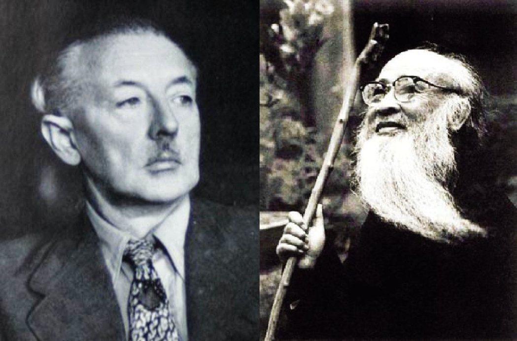 荷蘭藝術家米格倫(左), 台灣「渡海大師」張大千(右)是中西最大咖的偽畫大師。圖...
