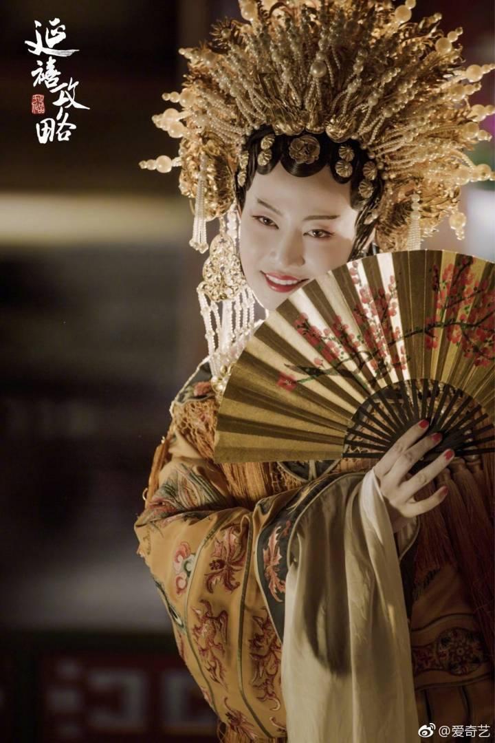 譚卓在「延禧攻略」中飾演「高貴妃」一角,特地學唱昆曲。圖/摘自微博