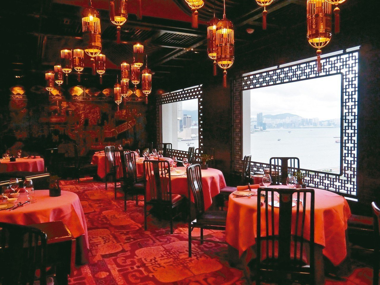 文華廳是香港文華東方酒店米其林一星的粵菜餐廳。 記者羅建怡/攝影