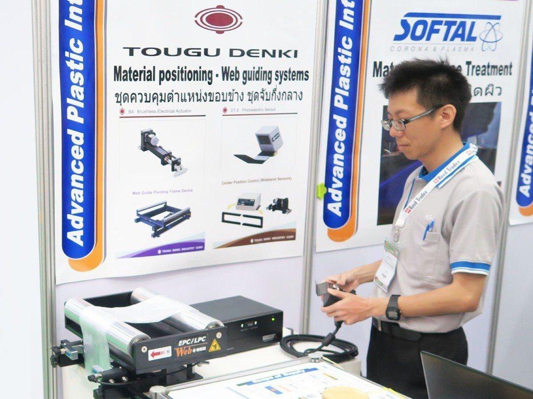 東電研將在本屆「台北國際塑橡膠工業展」展出自動對邊機。 東電研/提供