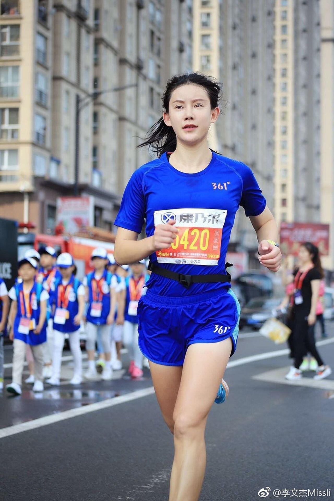 中國馬拉松「顏值女王」使用禁藥被禁賽四年。 圖張詒宣/翻攝