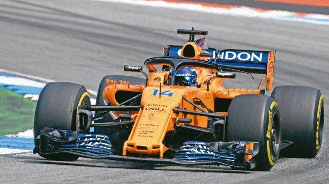 圖為F1麥拉倫(McLaren)車隊的西班牙選手Fernando Alonso。...