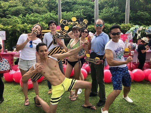 Cheers Bee蜂蜜氣泡水主張年輕、樂趣、勇於挑戰不設限。泰山企業/提供