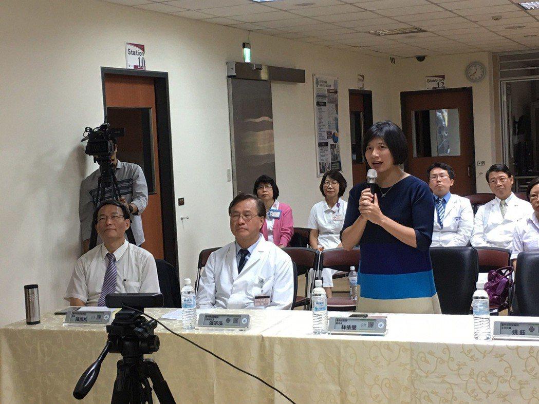 林依瑩副市長代表台中市政府蒞臨中榮致詞 臺中榮總/提供。