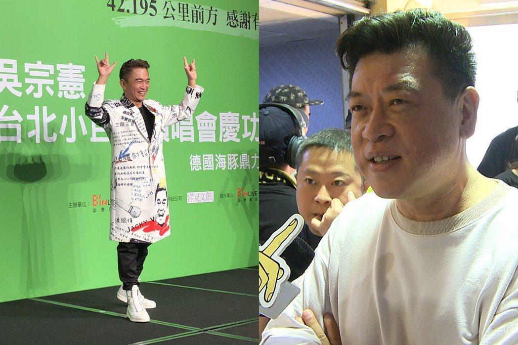 吳宗憲(左)對孫德榮的建言表示「謝謝厚愛」。記者林士傑/攝影