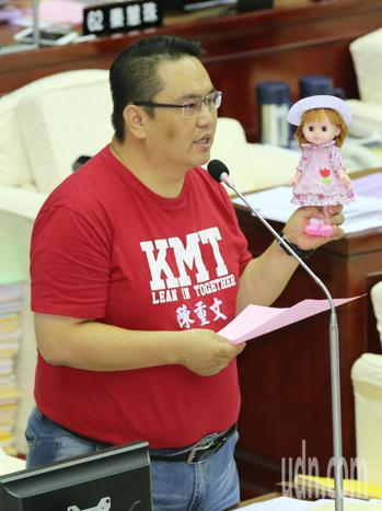 台北市議員陳重文。聯合報系記者許正宏/攝影