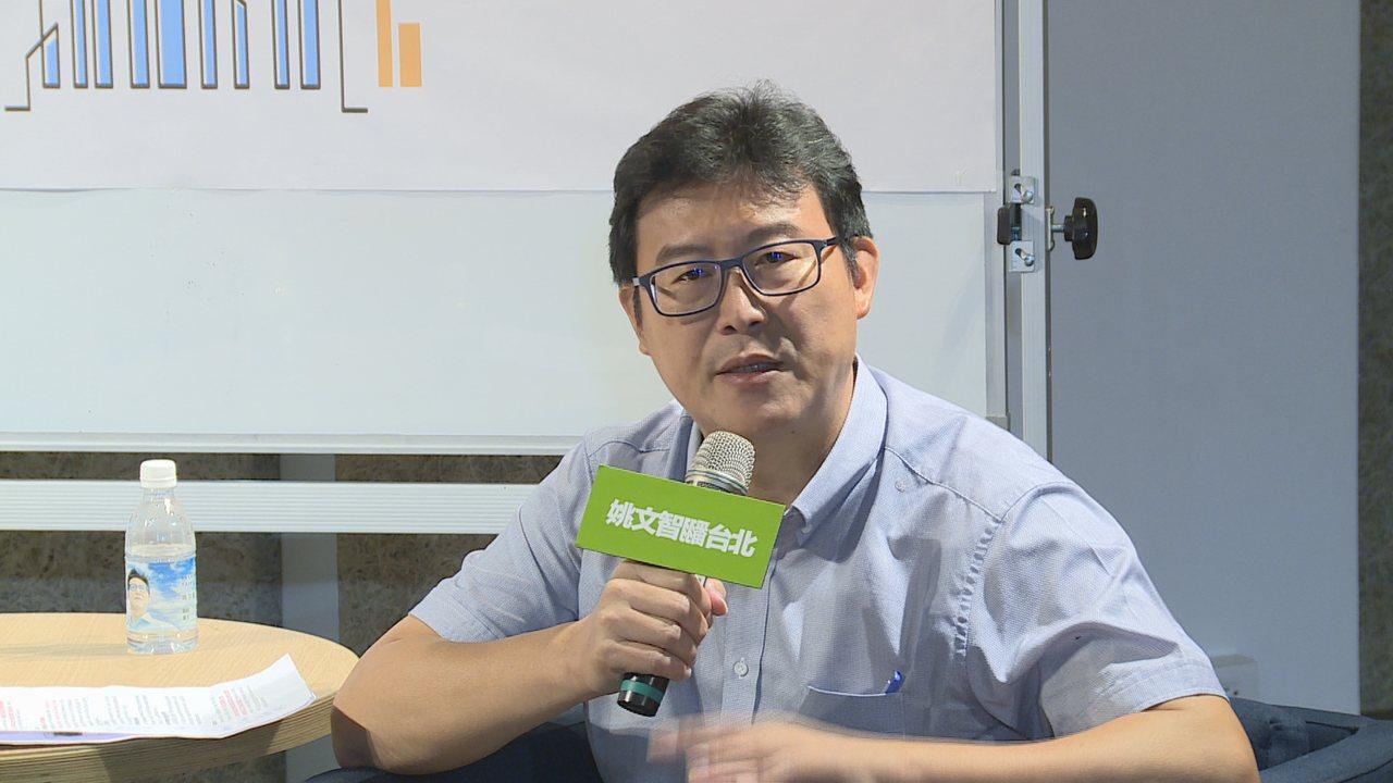 民進黨籍台北市長參選人姚文智。聯合報記記者王彥鈞/攝影