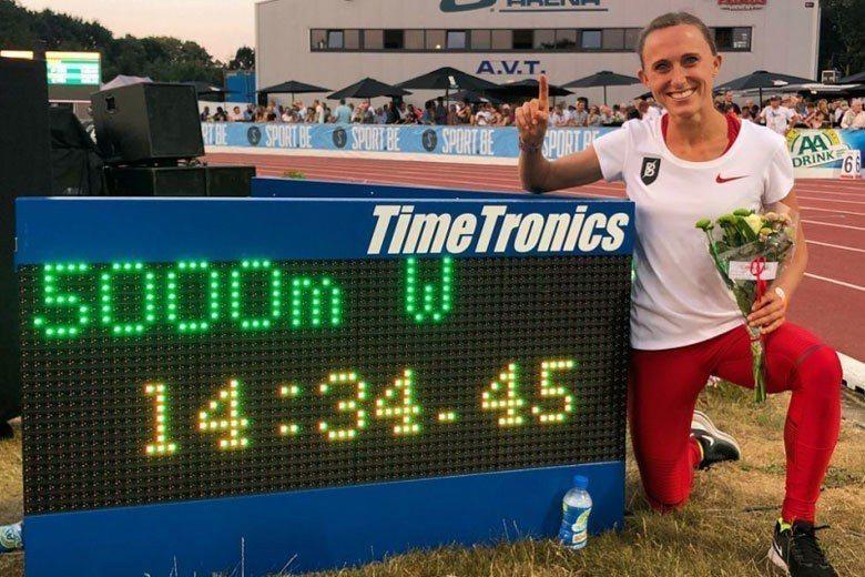 Shelby Houlihan 刷新美國女子5000m紀錄。 圖片來源:Twit...