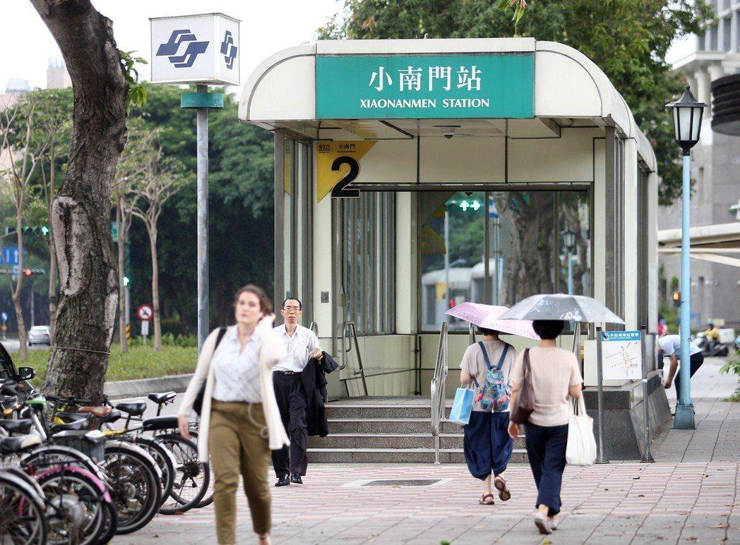 捷運小南門站。 報系資料照片