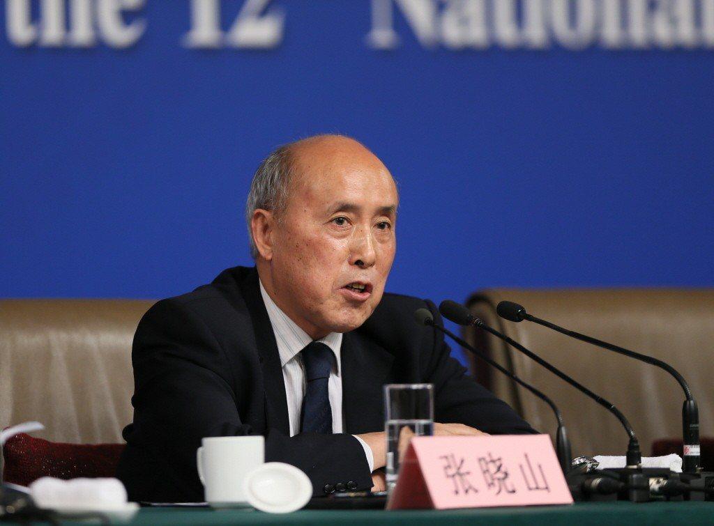 中國自然資源部退休官員張曉山。 新華社