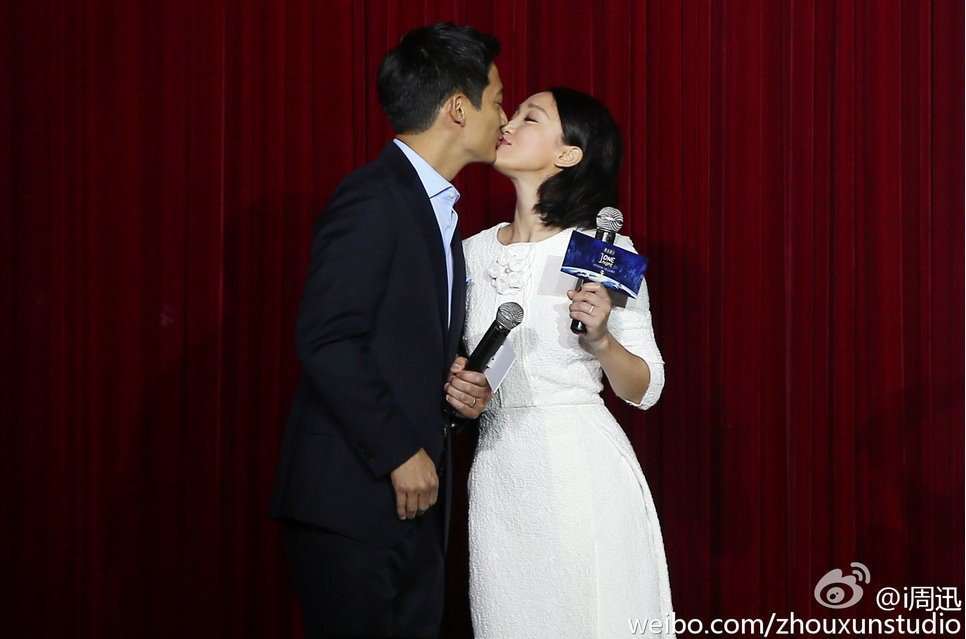 周迅(右)與高聖遠(左)傳出離婚消息。 圖/摘自微博
