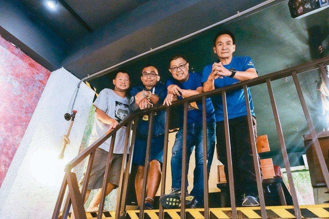 左起為金磊、侯政廉、陳正虔、俞明宏。 張慧娟/攝影