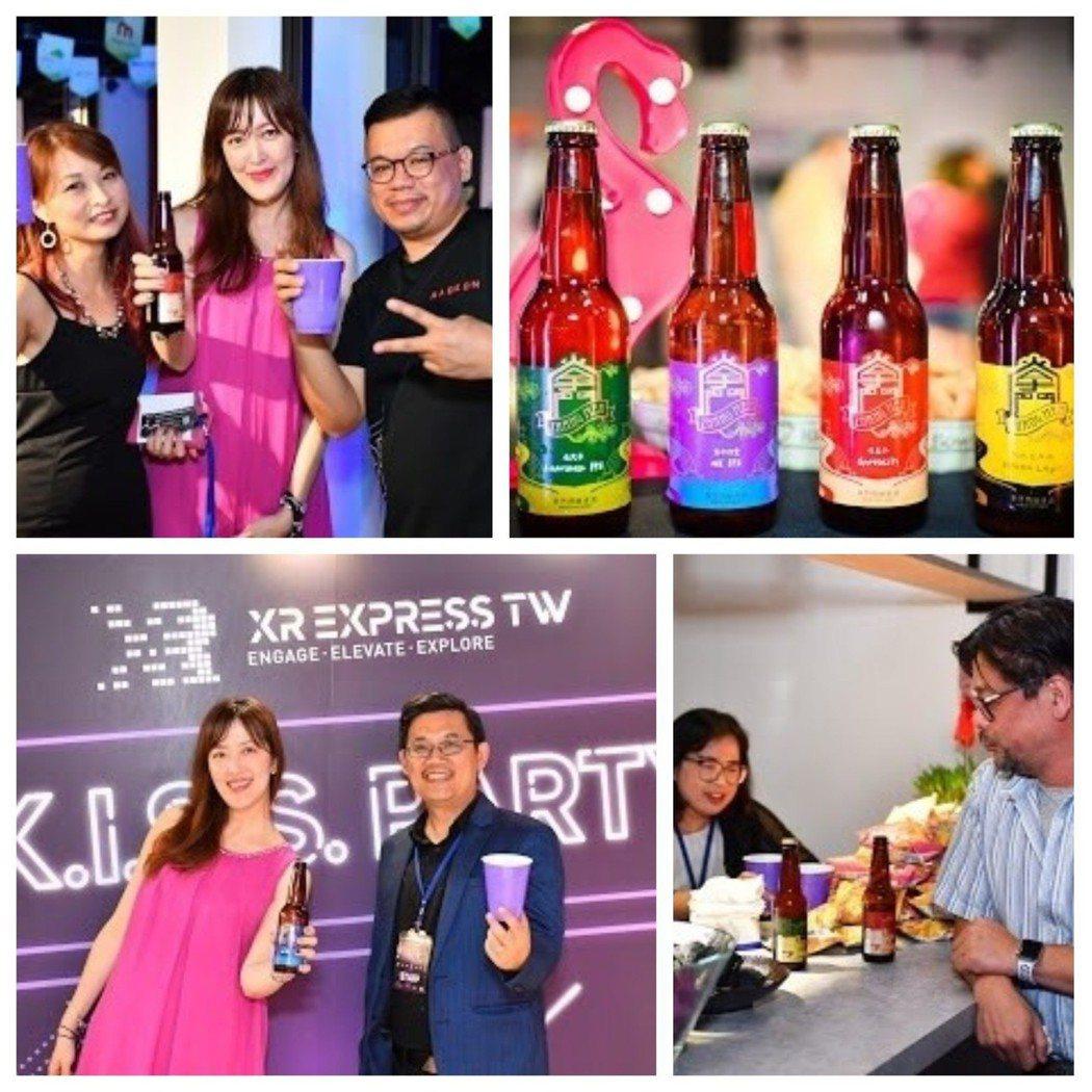 掌門精釀啤酒夏日限定瓶裝系列,在科技新創論壇「XR領袖盛夏峰會」會後趴替全台首發...