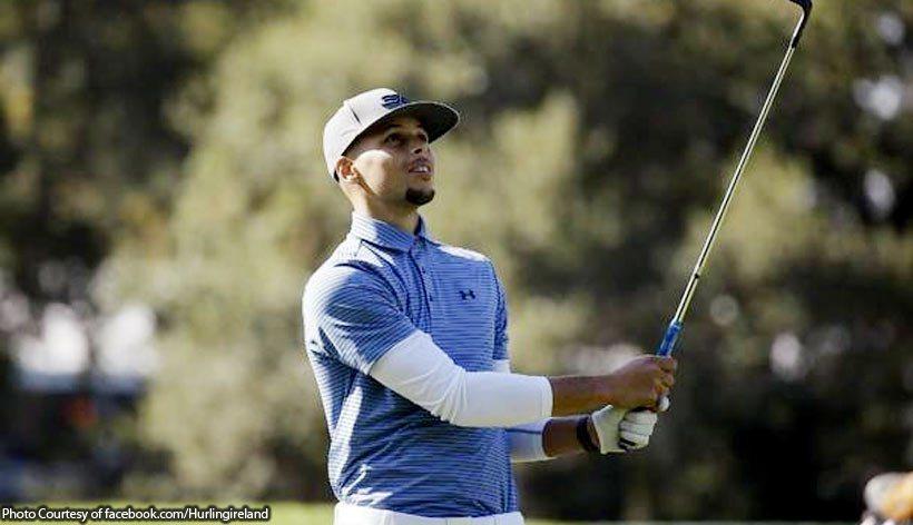 柯瑞出征PGA次級巡迴賽事。 擷圖自fastbreak推特(資料照)
