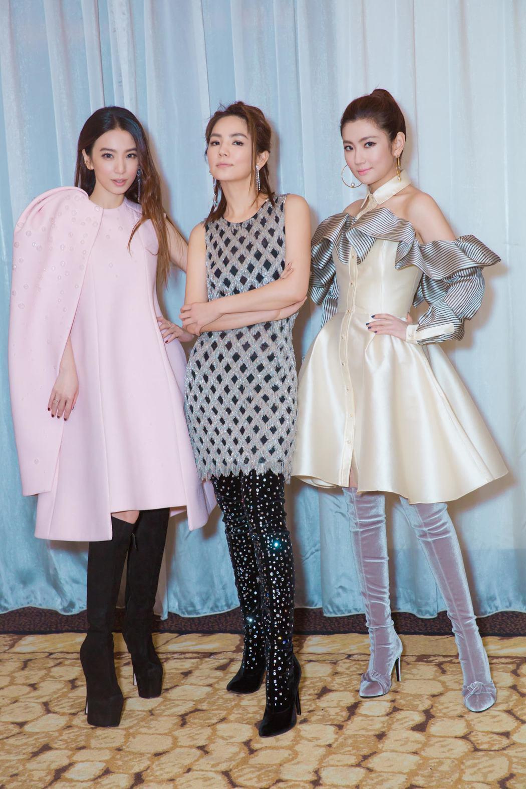 Hebe(左起)、Ella、Selina今年將歡慶S.H.E出道17周年。圖/華...