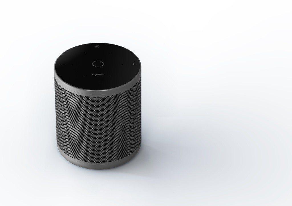 小豹AI音箱具有鋁合金外殼,內建5顆揚聲器。圖/雪豹科技提供