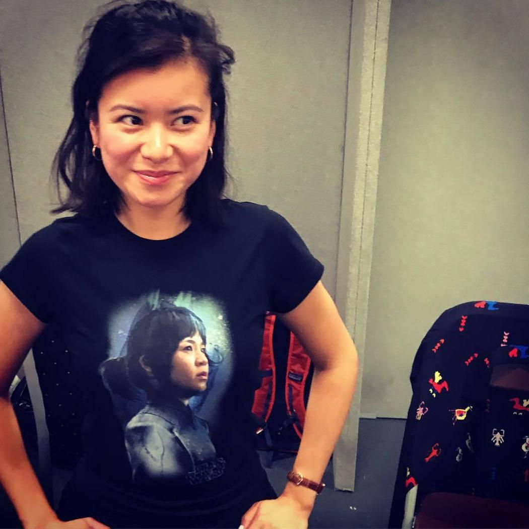 演出過「哈利波特」系列的梁佩詩,替同為亞裔的女星打氣。圖/摘自Instagram
