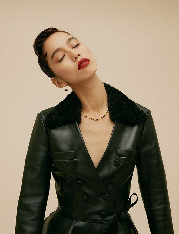 陳庭妮認為模特兒的身分是助力也是阻力。圖/Bella儂儂提供