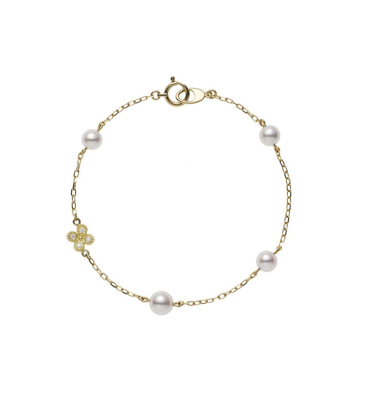 MIKIMOTO Lucky Motif系列,Fortune Leaves日本A...