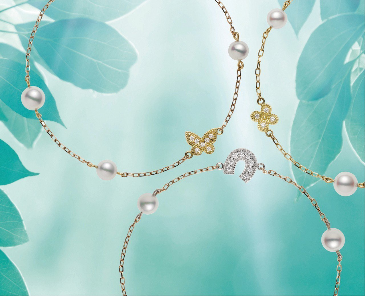 MIKIMOTO Lucky Motif Collection 手鍊作品情境圖。...