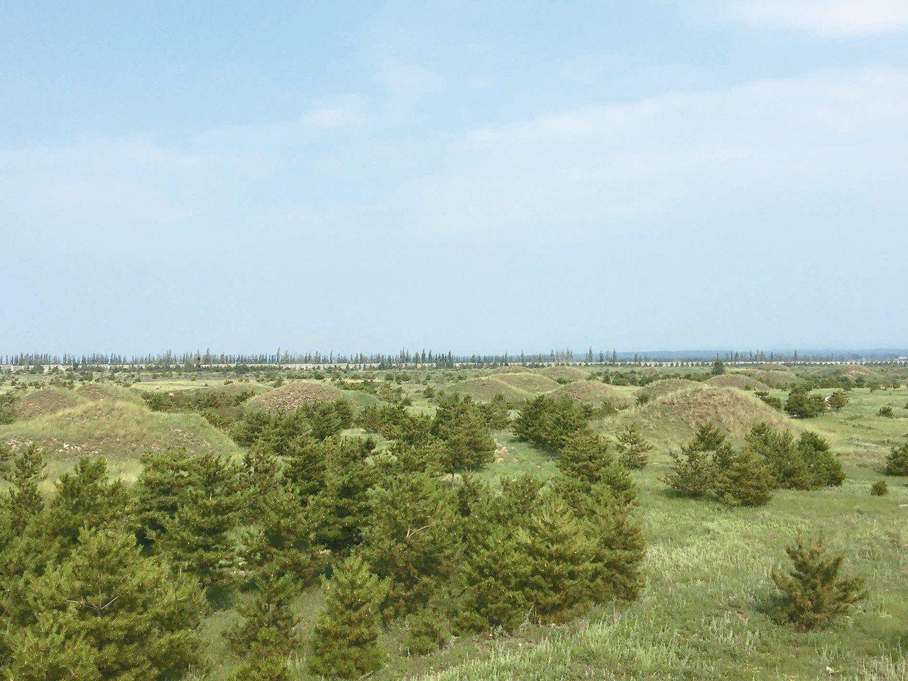 廣武漢墓群,規模之大、數量之多,居全大陸之首。 記者汪莉絹/攝影
