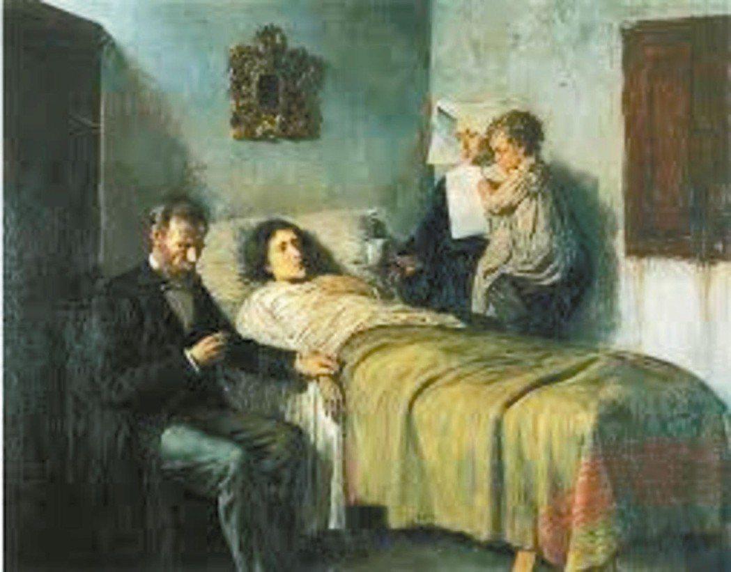 畢卡索名作「科學與慈悲」。 圖/取自網路