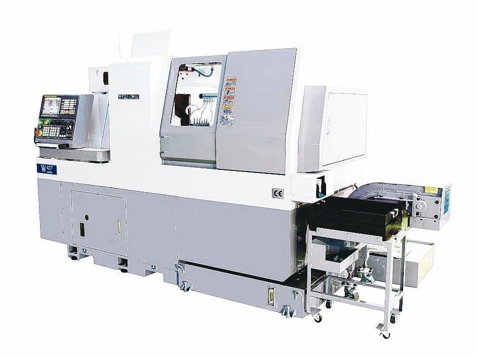 威亞W系走心式電腦車床。 威亞機械/提供