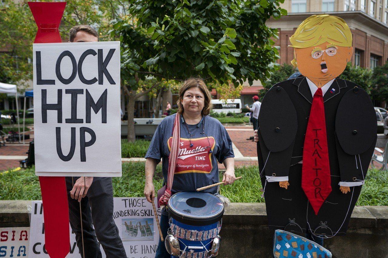 圖為反川普民眾抗議。 歐新社