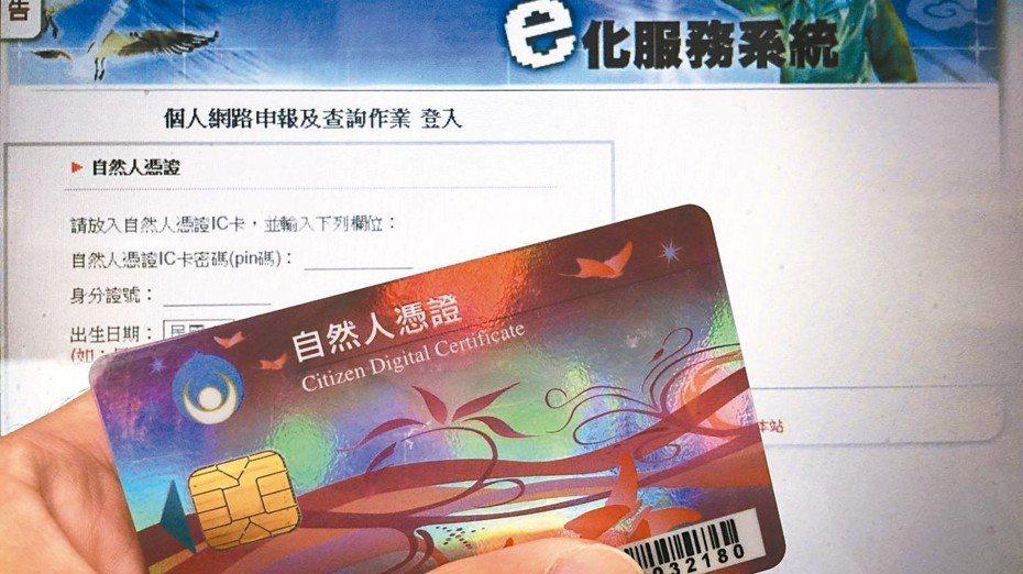 以自然人憑證申請數位帳戶,可免臨櫃。 報系資料照
