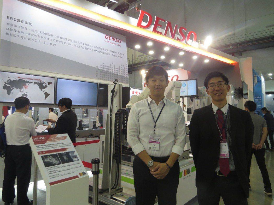 日本DENSO集團投資的台灣電綜機器手臂業務羅國志(左)、高橋直希(FA ROB...