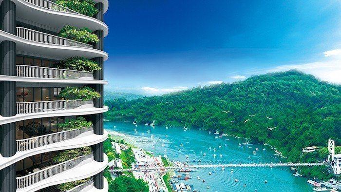 雙水灣位於新店核心,擁有面河景觀、捷運交通等優勢,是市中心難得一見的水岸宅。 圖...