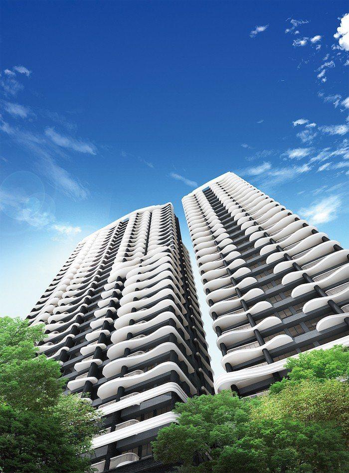 雙水灣由設計北京水立方的PTW建築團隊設計,國際感十足。 圖\業者提供