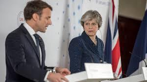 圖說:英國首相梅伊將於3日傍晚至南法與法國總統馬克宏會面,外界估計將討論英國脫歐...