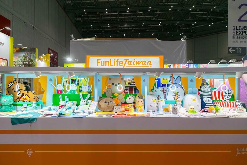 以創意列車的陳列展示台灣原創IP的豐富內容。(圖/文 聯合數位文創提供)