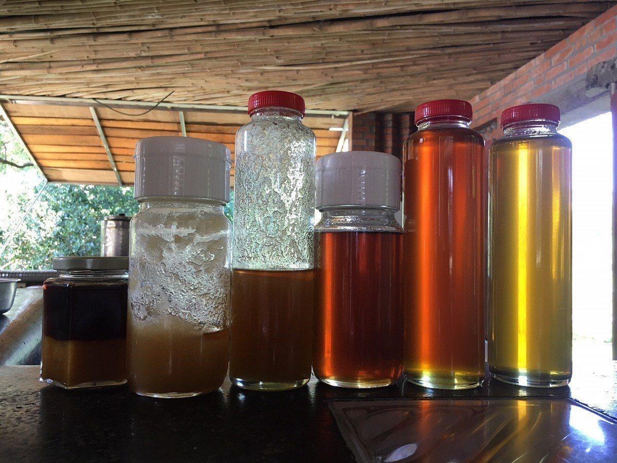 牧蜂農莊簡德源表示,加水攪拌後的蜜茶,真蜜顯得混濁,假蜜則是相當清澈,還有手搖過...